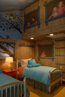 Kids Bedroom House tree house bedroom - eclectic - kids - minneapolis -gabberts