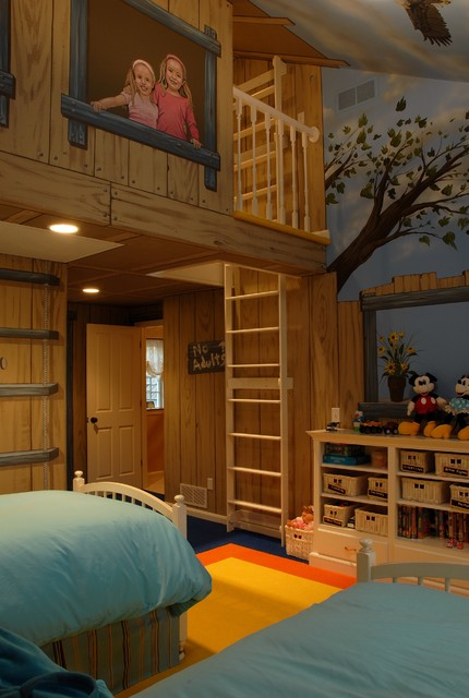 tree house bedroom eclectic kids