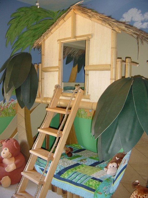 tropical beach theme room kids new york by