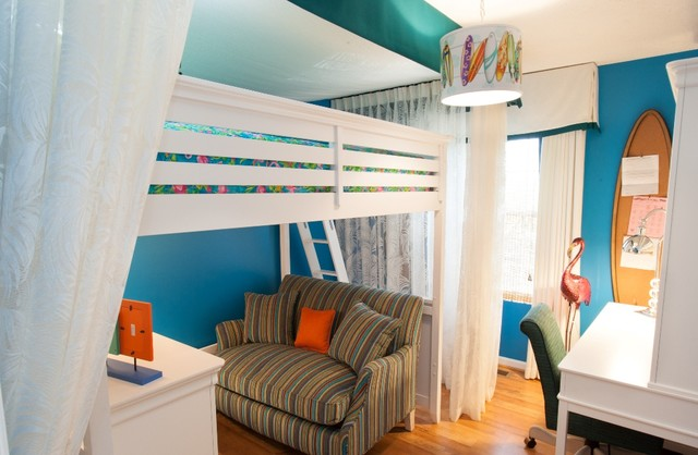 Girl's Beach Bedroom tropical-kids