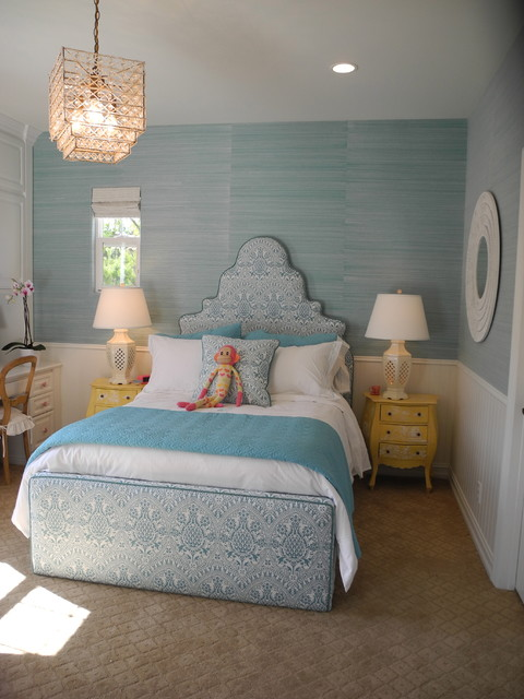 Turquoise Bed with trundle traditional-kids