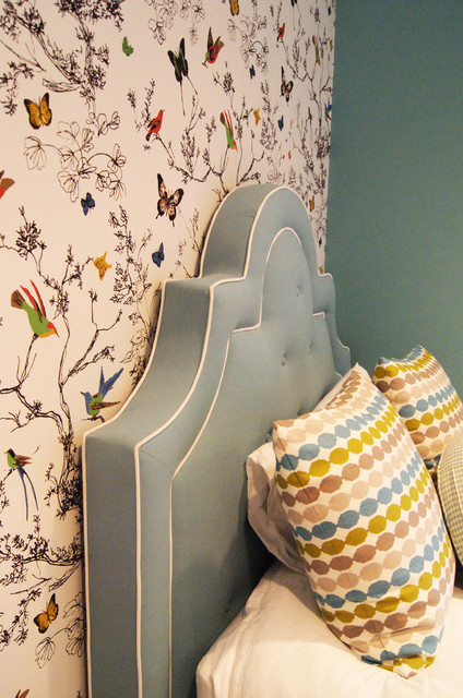 Turquoise Girls Room contemporary-kids