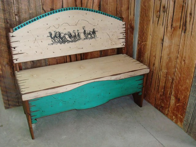Turquoise Storage Bench Turquoise Rustic Storage Bench
