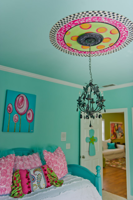 Turquoise Tween Bedroom - Canton, Ga - Eclectic - Kids - Atlanta ...