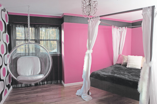 Tween bedroom contemporary kids new york by raine heidenberg interior design - New york girls room ...
