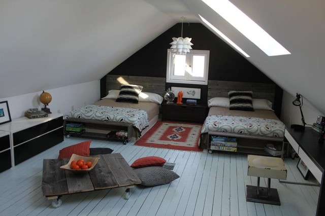 Tween boys attic room eclectic kids ottawa by the style counsel - Houses three attic bedrooms ...