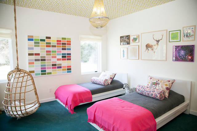 Twin Girls Bedroom - Eclectic - Kids - other metro - by Abaca Interiors