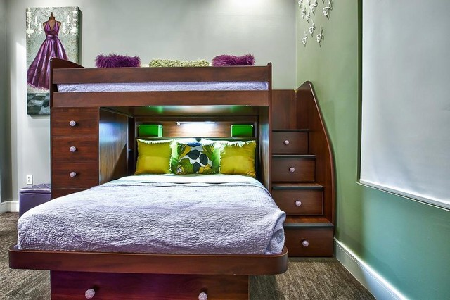 Upper Kirby Highrise Condo - Contemporary - Kids - Houston - by Pearl Design