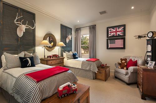 британский американский флаг в интерьере