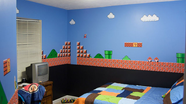 video game theme bedroom walls contemporary kids ottawa by