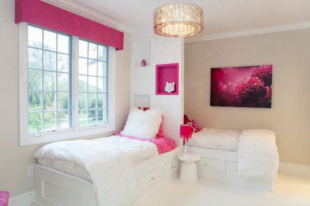 Villanova pa: girls pink accent bedroom modern kinderzimmer