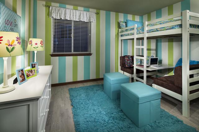 Vista Ridge Model Homes Girls Room contemporary-kids