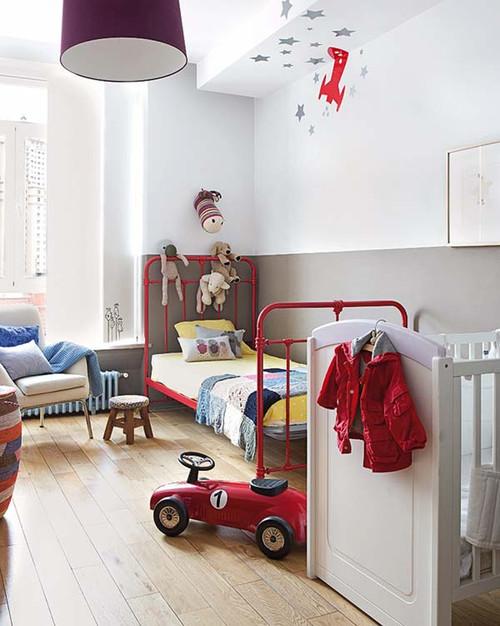 camas infantiles de forja estilo escandinavo