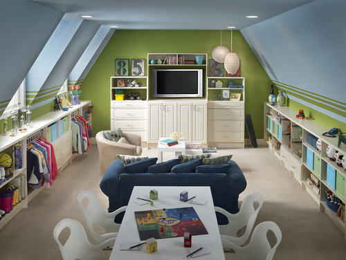 Attic Space Could Make a Great Study Room