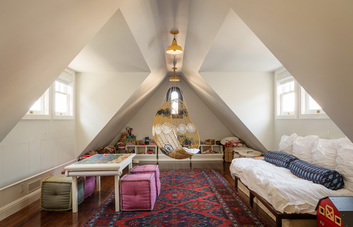 make sure your attic playroom has somewhere to take a nap, and even host  sleepovers