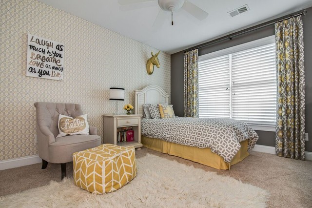 Awesome Waxhaw Nc Teen Girl Bedroom Gray Yellow Transitional Download Free Architecture Designs Scobabritishbridgeorg