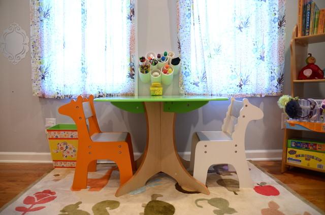 Whimsical Big-Girl Room traditional-kids