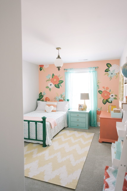 whimsical floral girls bedroom by design loves detail shabby chic