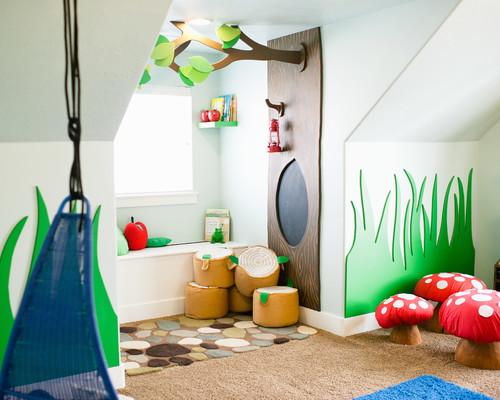 ein kinderzimmer wird zum verwunschenen spielparadies wohnen garten. Black Bedroom Furniture Sets. Home Design Ideas