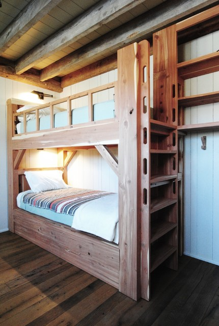 White oak cabin for Round bed for kids