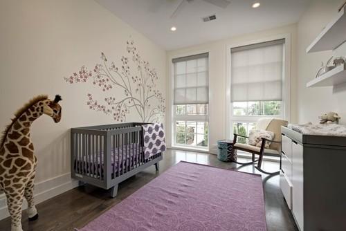 صورة غرفة نوم أطفال بنات جدران بيضاء وارضية باركيه   14 | ديكورات
