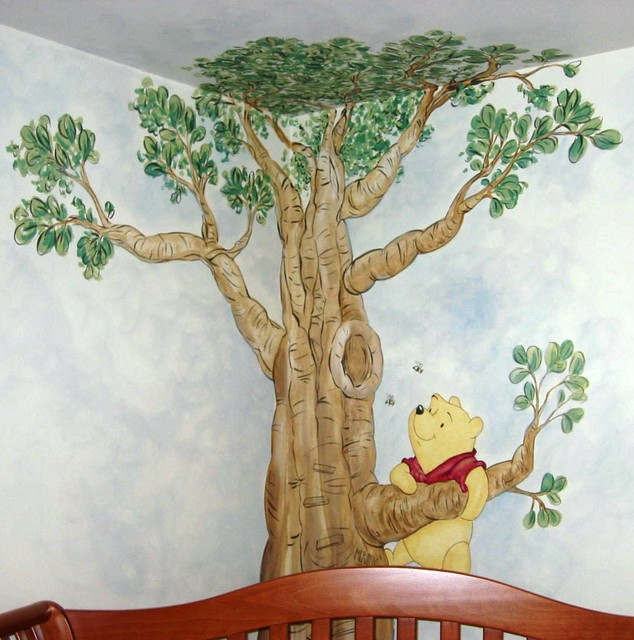 Winnie The Pooh Mural Traditional Kids Raleigh By