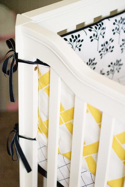Yellow and Black Nursery contemporary-kids