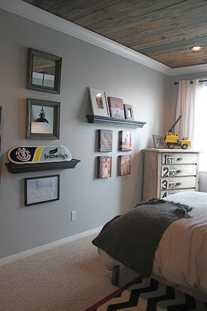 Zack's industrial bedroom traditional-kids
