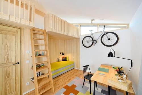 【Houzz】スポーツ用自転車を家の中に収納・保管する5つのアイデア 14番目の画像