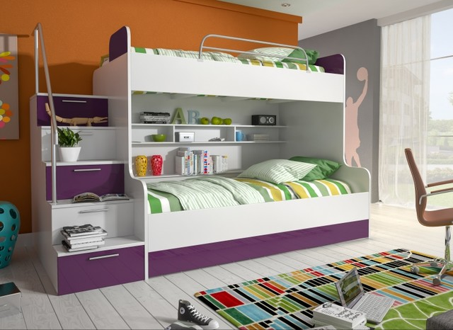 hochbett riga freie farbwahl 3 in 1 kinder oder jugendzimmer modern kinderzimmer. Black Bedroom Furniture Sets. Home Design Ideas