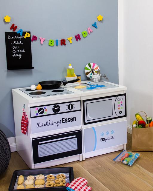 IKEA Kinderküche selber bauen Möbel sticker / DIY play kitchen ...
