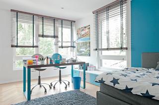 jugendzimmer einrichtung schreibtisch f r zwei modern kinderzimmer d sseldorf von mobimio. Black Bedroom Furniture Sets. Home Design Ideas