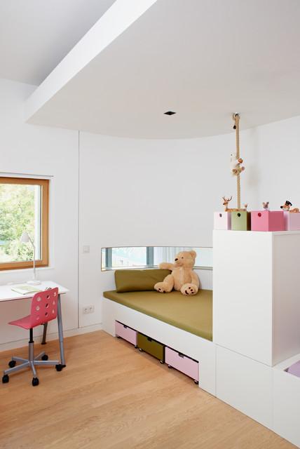 kinderzimmer mit bettnische contemporary kids other. Black Bedroom Furniture Sets. Home Design Ideas