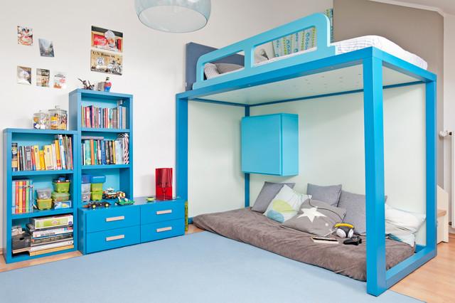 Kinderzimmer Mit Hochbett Fur Einen Jungen Modern