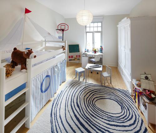Decoração de quarto infantil de design e estilo escandinavos