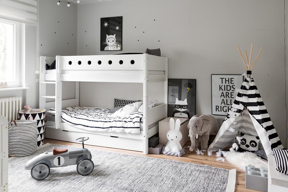 儿童房白色床北欧风格装修效果图