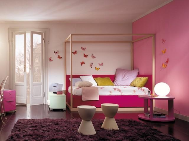 Modernes Himmelbett Für Mädchen, Betten Für Kinder, Betten Für Jugendliche  Contemporary Kids