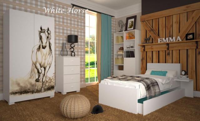 pferdemotive f r jugendzimmer. Black Bedroom Furniture Sets. Home Design Ideas