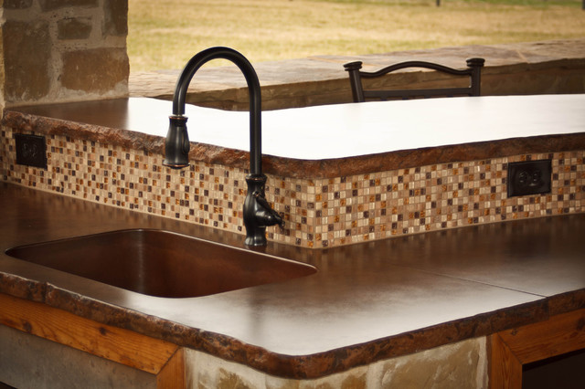 1-piece integral concrete sinks contemporary-kitchen