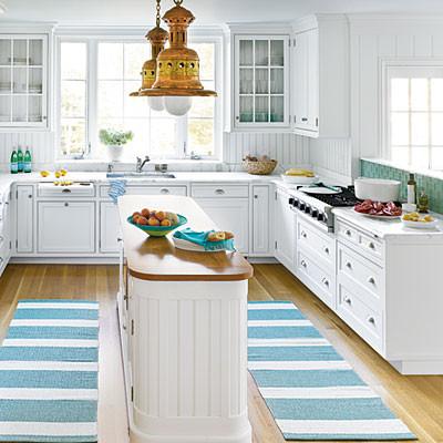 100 % Vinyl Kitchen Runners - Beach Style - Kitchen - Miami - by ...