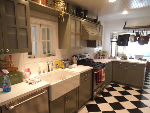 100 Year Old House Kitchen Remodel Kuche Los Angeles Von Palisades Kitchen Bath Houzz