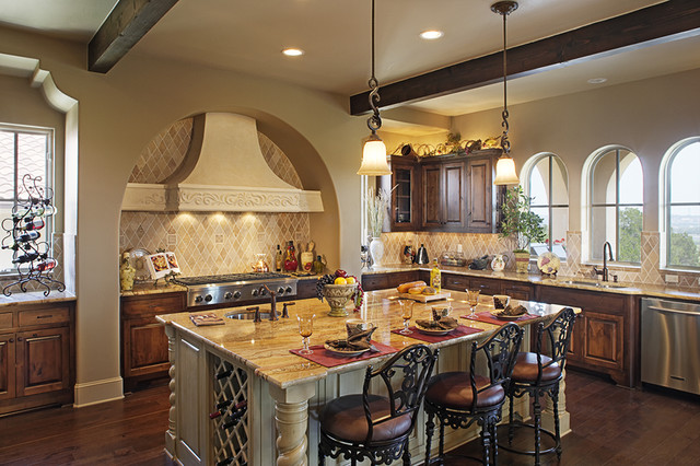 110 Golden Bear mediterranean-kitchen