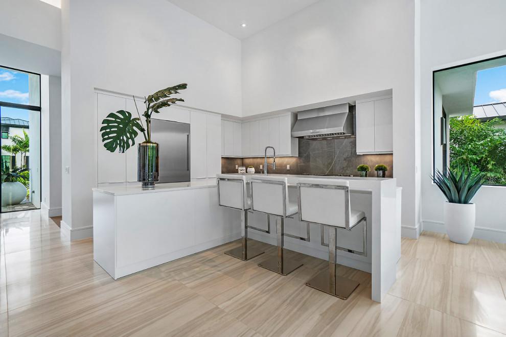 117 Coconut Road, Delray Beach - Contemporary - Kitchen ...