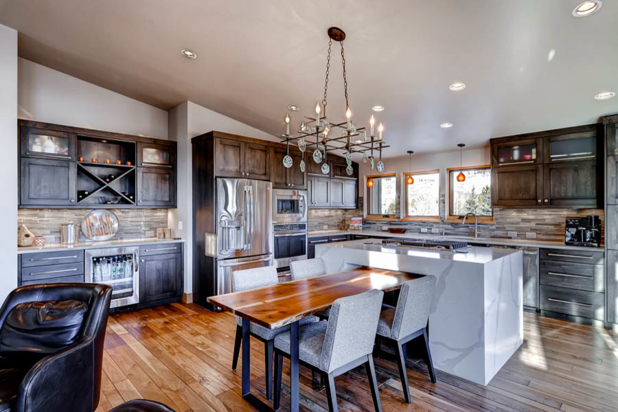 Example of a trendy kitchen design in Denver