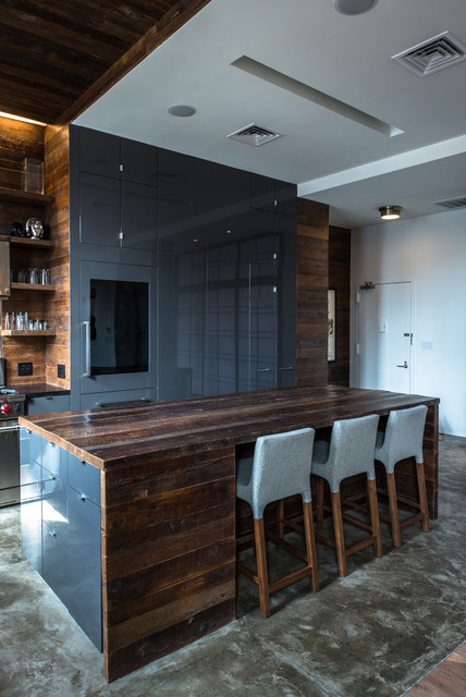 13th Street Penthouse contemporary kitchen