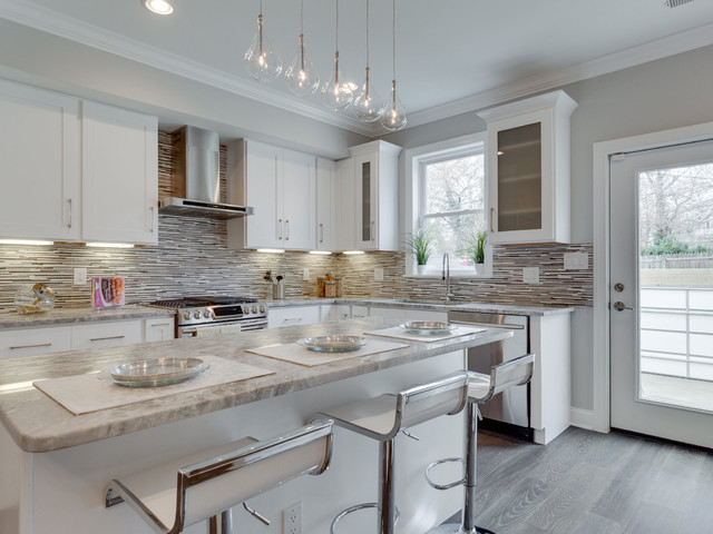 14th street washington dc transitional kitchen by for Baldosas cocina porcelanosa