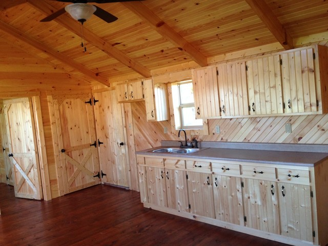 14x40 Whitetail Modular Cabin Craftsman Kitchen