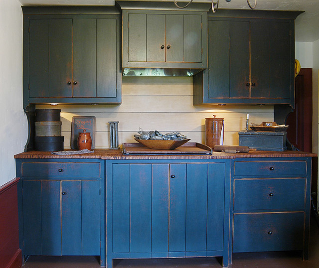 primitive painted kitchen cabinets 1720s maine house traditional kitchen other metro 24943