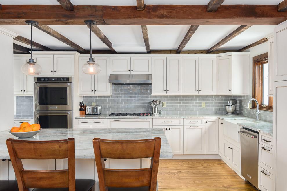1762 Farmhouse Kitchen Sterling Ma Farmhouse Kitchen Boston By Kitchen Associates