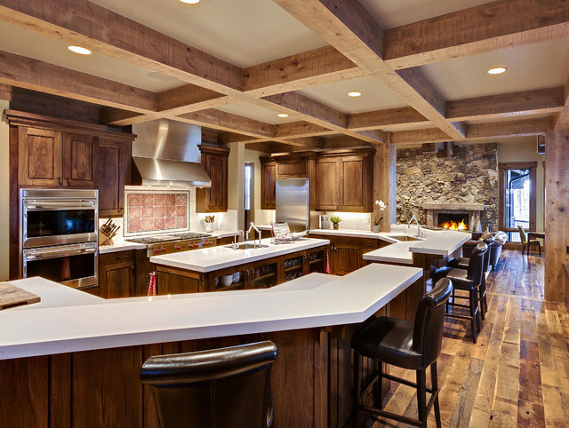 177 white pine - new build rustic-kitchen